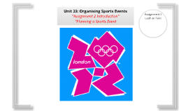 Organising Sports Events