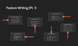 Feature Writing (Pt. 1)