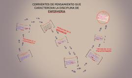 Copy of CORRIENTES DE PENSAMIENTO QUE CARACTERIZAN LA DISCIPLINA DE