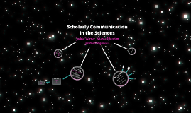 Scholarly Communication in the Sciences