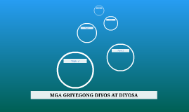 MGA GRIYEGONG DIYOS AT DIYOSA