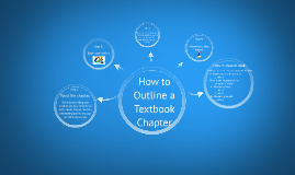 how to outline a textbook