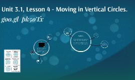 Unit 3.1, Lesson 4 - Moving in Vertical Circles.