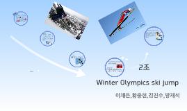 Winter Olympics ski jump