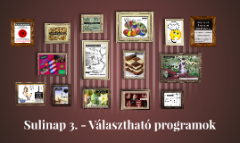 Sulinap 3. -Választható programok
