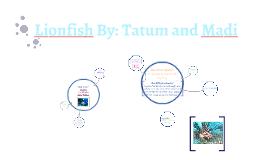 Lion Fish By: Tatum and Madi