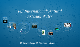 Fiji International: Natural Artesian Water