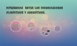 Copy of DIFERENCIAS  ENTRE LOS HIDROCARBUROS ALINFATICOS Y AROMÁTICO