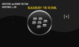 BLACKBERRY: THE REPRISE?