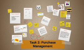 Task 2: Purchase Management