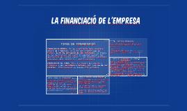 LA FINANCIACIÓ DE L'EMPRESA