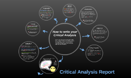 How to write your critical analysis report