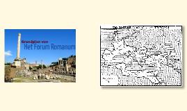 Grondplan van het Forum Romanum