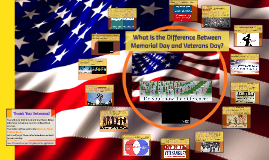 What is the Difference Between Memorial Day and Veterans Day