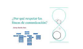¿Por qué respetar las líneas de comunicación?