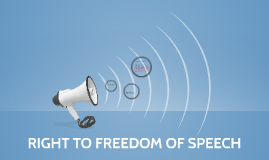 1st Amendment: Right to freedom of speech