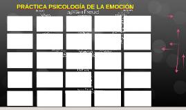 PRÁCTICA PSICOLOGÍA DE LA EMOCIÓN