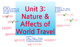 L2 Unit 3:  Nature & Affects of World Travel