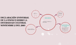DECLARACIÒN UNIVERSAL DE LA UNESCO SOBRE LA DIVERSIDAD CULTU