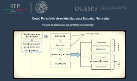 Curso Portafolio de evidencias para las escuelas normales