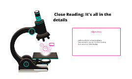 Close Reading: It's all in the details