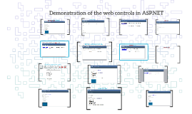 Demonstration of the web controls in