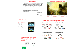 Les sources de pollution