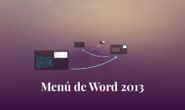 Menú de Word 2013