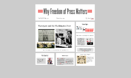 Why Freedom of Press Matters