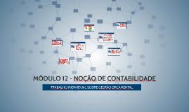MÓDULO 12 - NOÇÃO DE CONTABILIDADE - GESTÃO ORÇAMENTAL