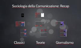 Sociologia dei media -Primo Recap