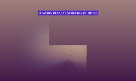 FUNCION RENAL Y EXCRECION DE ORINA