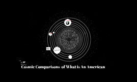 Cosmic Comparisons