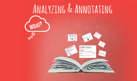 Analyzing & Annotating