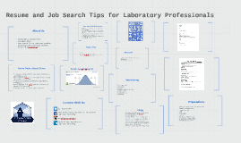 Resume and Job Search Tips for Laboratory Professionals
