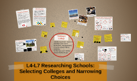 2018 L4-L7 Researching and Selecting Colleges
