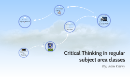 Critical Thinking in regular subject area classes