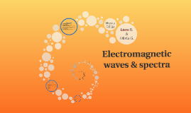 Electromagnetic waves & spectra