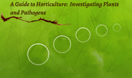 A Guide to Horticulture:  Plants and Pathogens