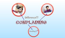 Micro Teaching - Lesson Plan 1 - Complaining