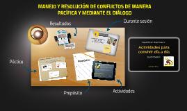 MANEJO Y RESOLUCIÓN CONFLICTOS