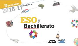 Novedades 2016-17 ESO y Bachillerato