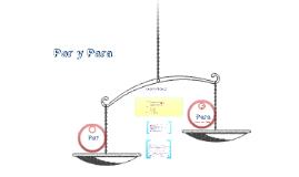 Copy of Por and Para