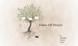Dates OF Desert