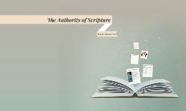 Authority of Scripture