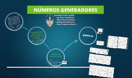NUMEROS GENERADORES