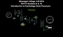 Welcome to Introduction to Psychology - Basic Processes
