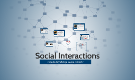 Copy of social interactions in literature- how the change as one matures