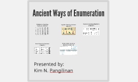 Ancient Ways of Enumeration
