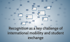 Recognition as key challenge of international mobility and s